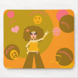 Chica enrrollado Mousepad del Hippie