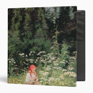 "Chica entre las flores salvajes, 1880 carpeta 1 1/2"""