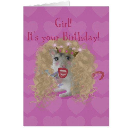 ¡Chica es su cumpleaños! Tarjetas