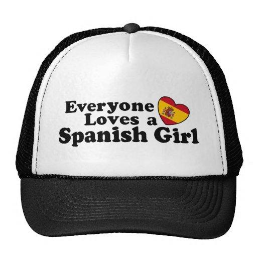 Chica español gorro de camionero
