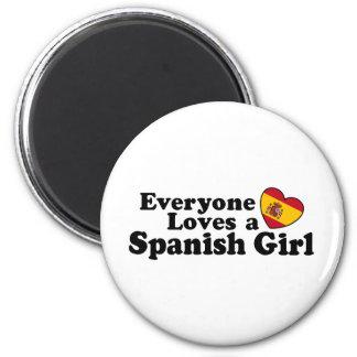 Chica español imán redondo 5 cm