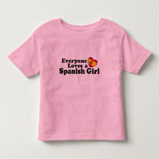 Chica español playera de bebé