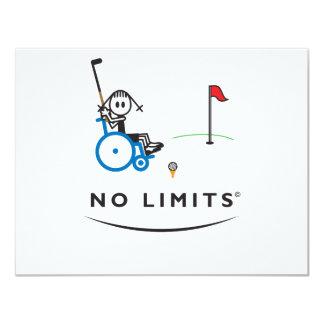 """Chica especial del golf invitación 4.25"""" x 5.5"""""""
