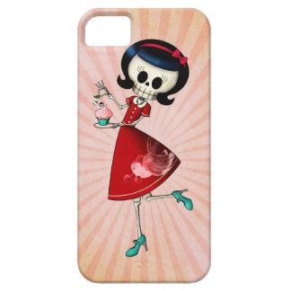 Chica esquelético dulce y asustadizo iPhone 5 Case-Mate coberturas