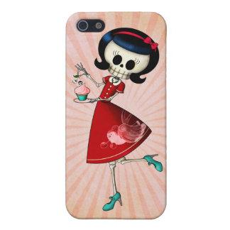 Chica esquelético dulce y asustadizo iPhone 5 protectores