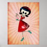 Chica esquelético dulce y asustadizo póster