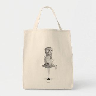 Chica extraño bolsas de mano