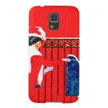 Chica Fadeaway de Coles Phillips - navidad blanco Carcasa Para Galaxy S5