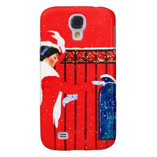 Chica Fadeaway de Coles Phillips - navidad blanco Funda Para Galaxy S4