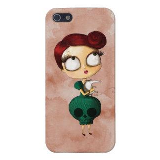 Chica fantasmagórico con el oposum iPhone 5 funda