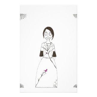 Chica fantasmagórico de la araña papelería