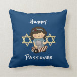 Chica feliz del Passover Cojin