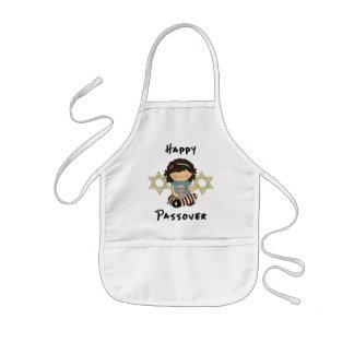 Chica feliz del Passover Delantal Infantil
