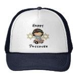 Chica feliz del Passover Gorros