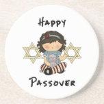 Chica feliz del Passover Posavasos Personalizados