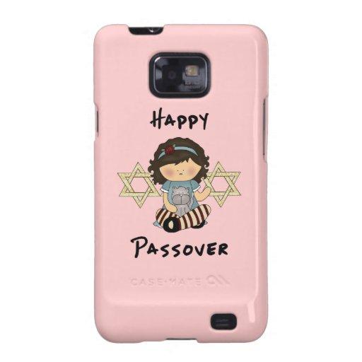 Chica feliz del Passover Samsung Galaxy SII Fundas