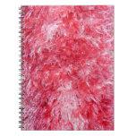 Chica femenino - piel de imitación rosada cuaderno