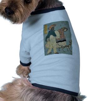 Chica francés que camina con el perro por Utagawa, Camisetas De Mascota