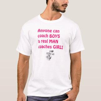 Chica-Fútbol real del coche de los hombres Playera