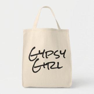 Chica gitano bolsa tela para la compra