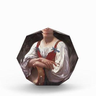 Chica gitano de Guillermo Bouguereau- con un tambo