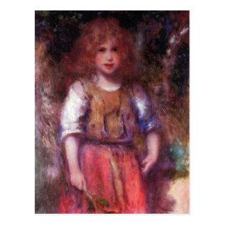 Chica gitano de Pedro Renoir Postal