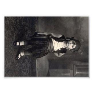 Chica gitano del vintage - foto blanco y negro vie