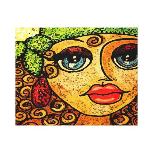 Chica gitano impresiones en lienzo estiradas