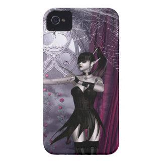 Chica gótico Blackberry de la fantasía intrépido iPhone 4 Cárcasas