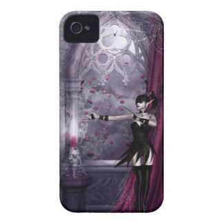 Chica gótico Blackberry de la fantasía intrépido Case-Mate iPhone 4 Protectores