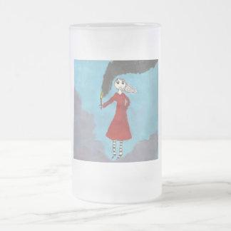 chica gótico con la antorcha taza de cristal