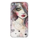 Chica gótico de la fantasía con el caso del iPhone Funda De iPhone 6 Barely There