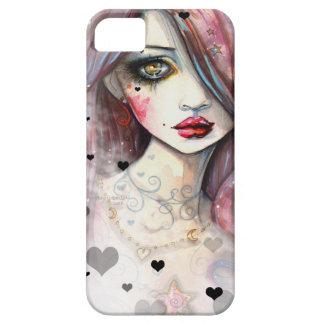 Chica gótico de la fantasía con el caso del iPhone iPhone 5 Case-Mate Cobertura
