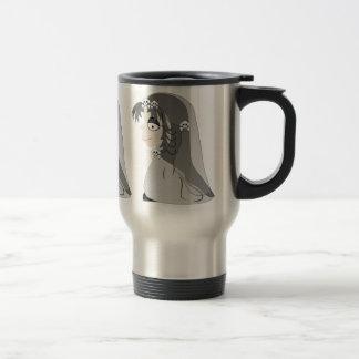 Chica gótico del fantasma taza de viaje de acero inoxidable
