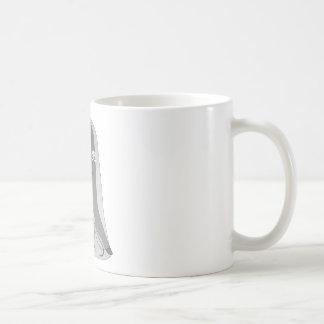 Chica gótico del fantasma taza básica blanca