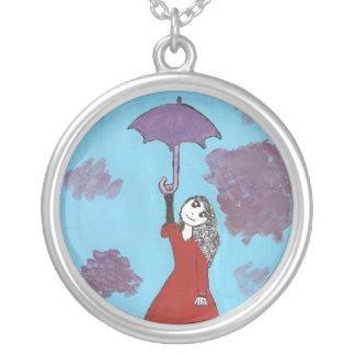 Chica gótico del paraguas colgante redondo