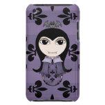 Chica gótico lindo del vampiro de Halloween en iPod Touch Fundas