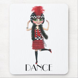 Chica grande de la aleta del ojo del traje de los mousepads