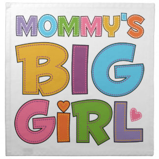 Chica grande de Mommys Servilleta Imprimida