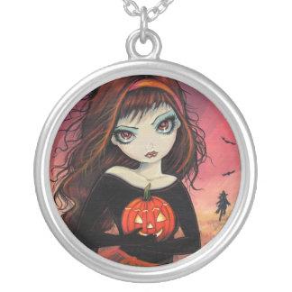 Chica grande del ojo del collar de Halloween con l