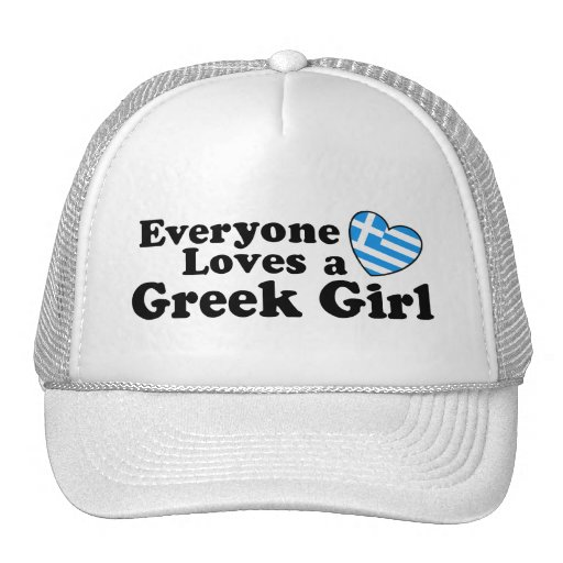 Chica griego gorros bordados