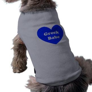 Chica griego camisetas de perrito