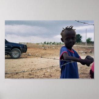 Chica haitiano en la República Dominicana Póster
