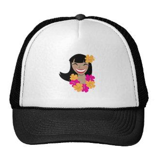 Chica hawaiano gorra