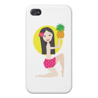 Chica hawaiano iPhone 4 carcasa