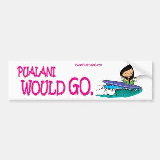 Chica Hawaii - pegatina para el parachoques de Pua Etiqueta De Parachoque