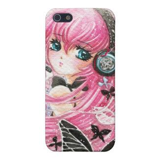 Chica hermoso con las mariposas - caso de iPhone 5 carcasas