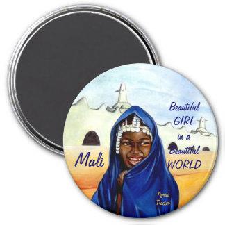 Chica hermoso en un mundo hermoso, imán de Malí