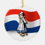 Chica holandés ornamento de navidad