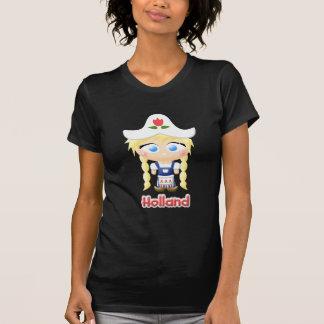 Chica holandés camisetas